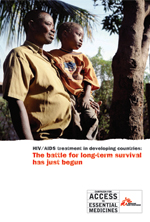 2009. HIV-AIDS treatment in developing   countries - The battle for long-term survival has just begun