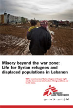 Misery beyond the war zone: life for Syrian refugees and displaced populations in Lebanon