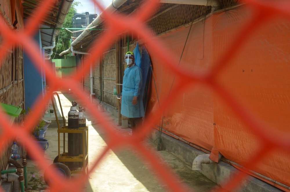 Isolation ward for COVID-19 positive patients at Goyalmara mother and child hospital in Cox's Bazar, Bangladesh. 2020.