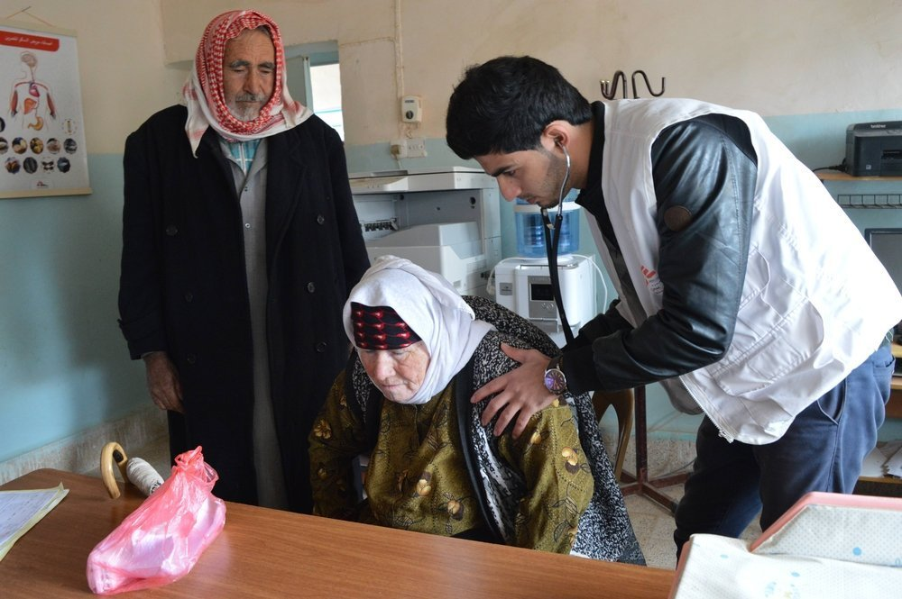 Nadia Mohammed Ahmed has high blood pressure. She and her husband are Turkmens, a Turkic ethnic group that predominantly live in the north of Iraq.