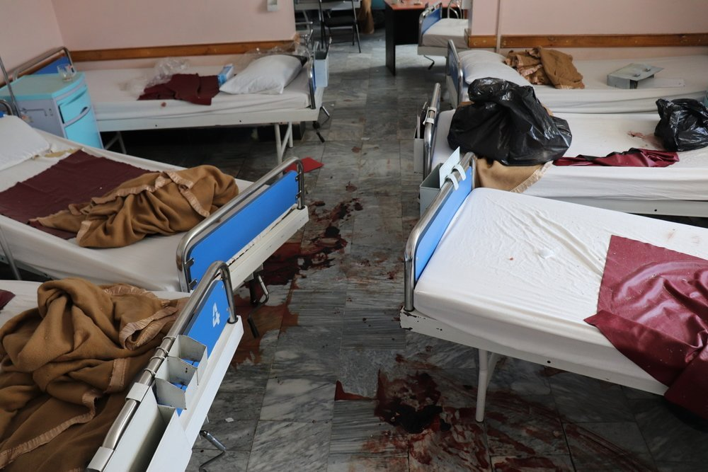 One of the wards in the maternity department in Kabuk, Afghanistan. 2020.