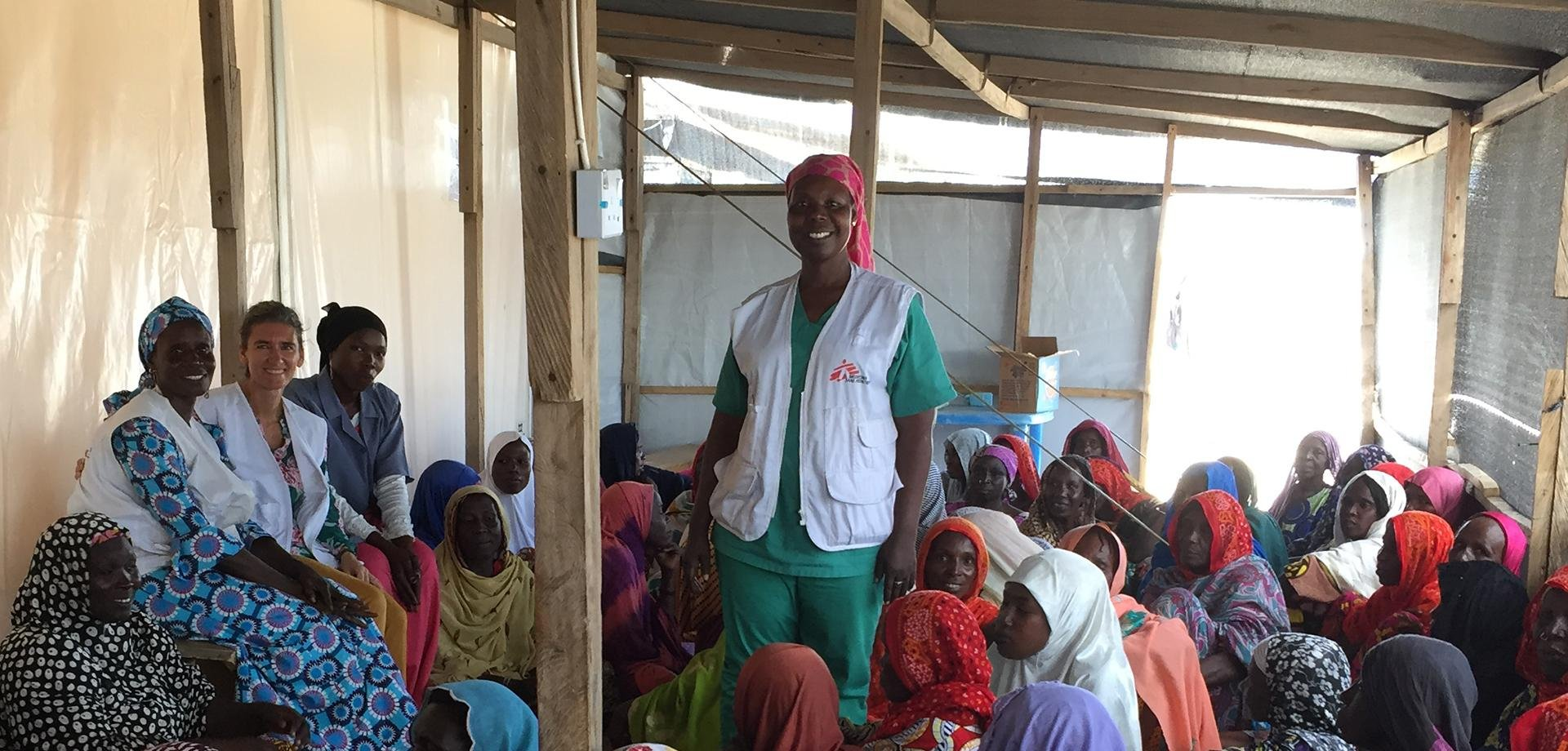 Aisha  Akello works with MSF at IPD camp in Ngala, Northeast Nigeria