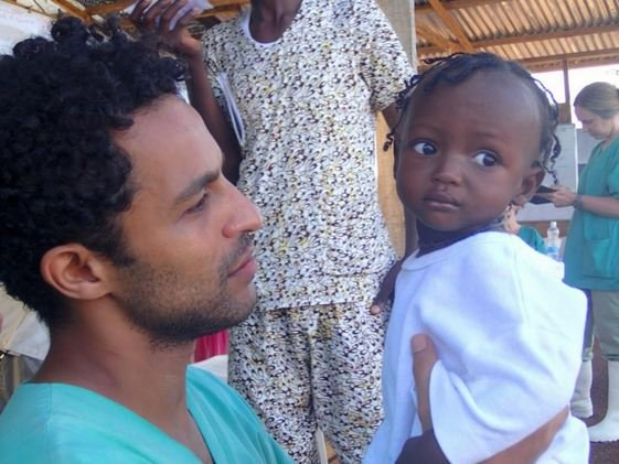 Javid with a patient, Sierra Leone