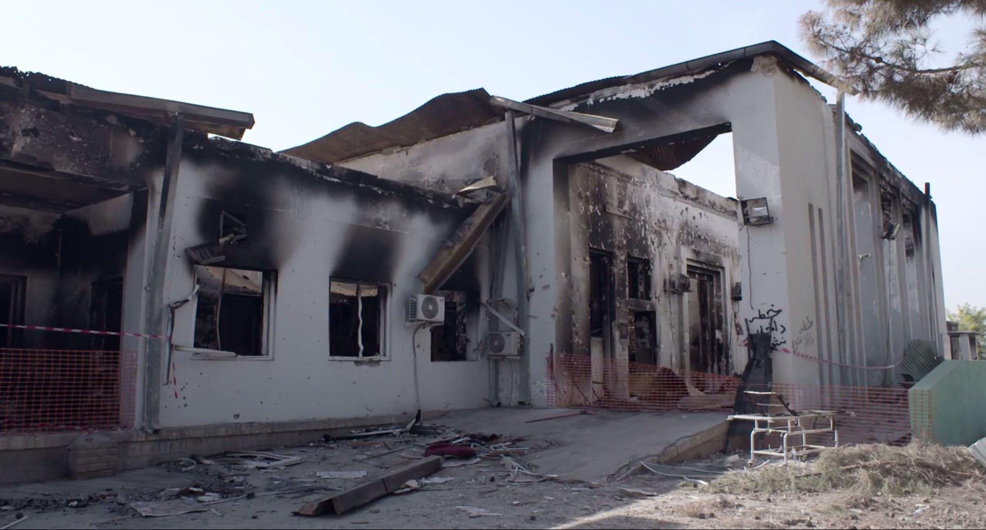 Aftermath of airstrike on Kunduz MSF hospital