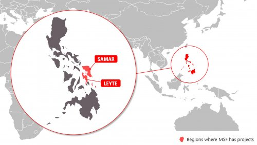 Map of MSF's activities in the Philippines, 2015
