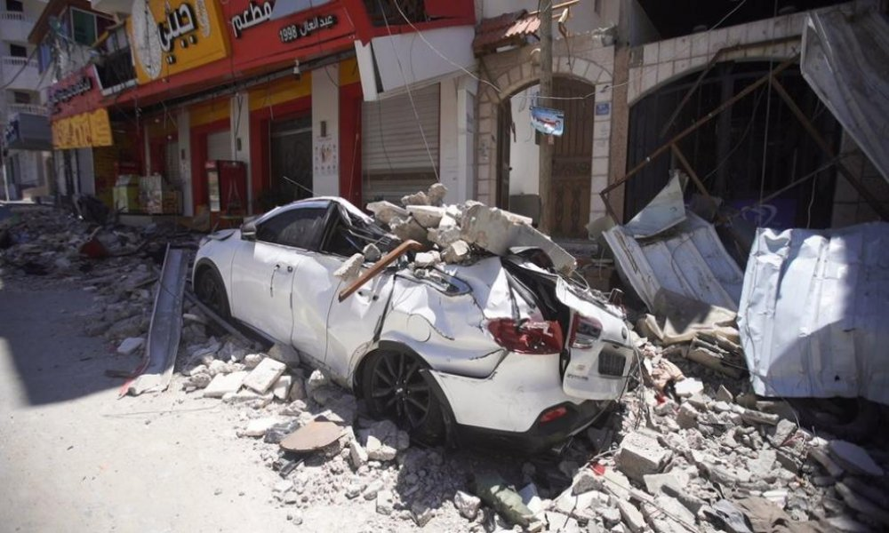 Destruction in Gaza City during the May bombardment.