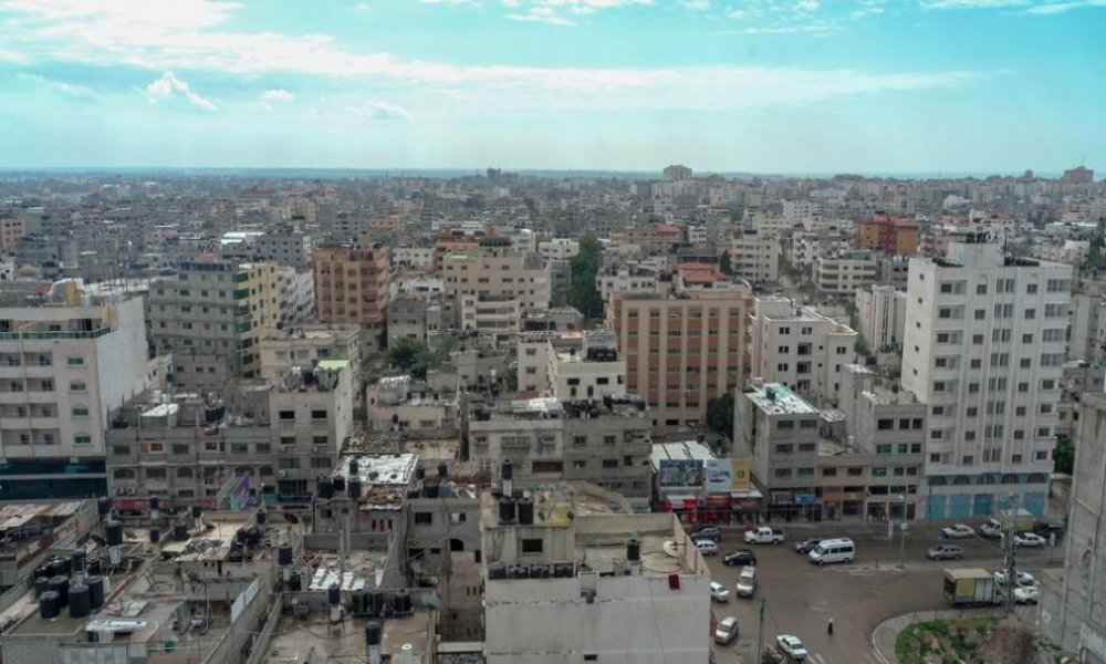 A view over Gaza City, taken February 2019.