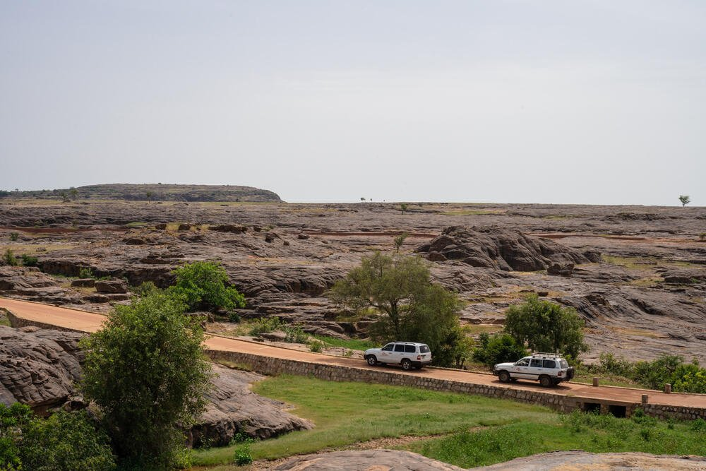Two MSF vehicles responding to an emergency in Central Mali