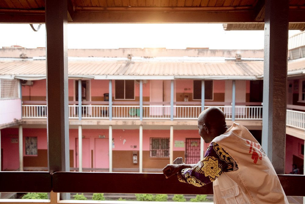 MSF social worker Didier Mango works in the Tongolo ward at the community hospital of Bangui. He always tells people about the importance of coming to the centre within 3 days of a sexual assault to prevent diseases and unwanted pregnancies.