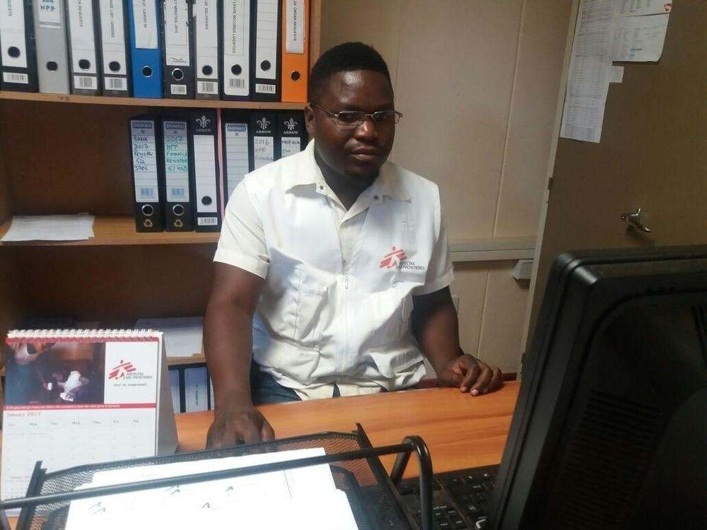 MSF clinical psychologist Emmerson Gono