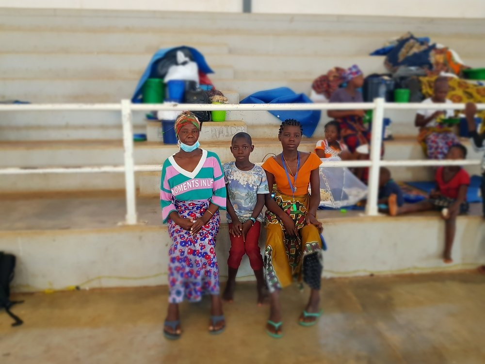 Zainabo Bacar is one of the displaced people from the recent Palma attack. She is currently in the temporary shelter offered at the Stadium in Pemba while she tries to get news from her son that stayed in Palma.
