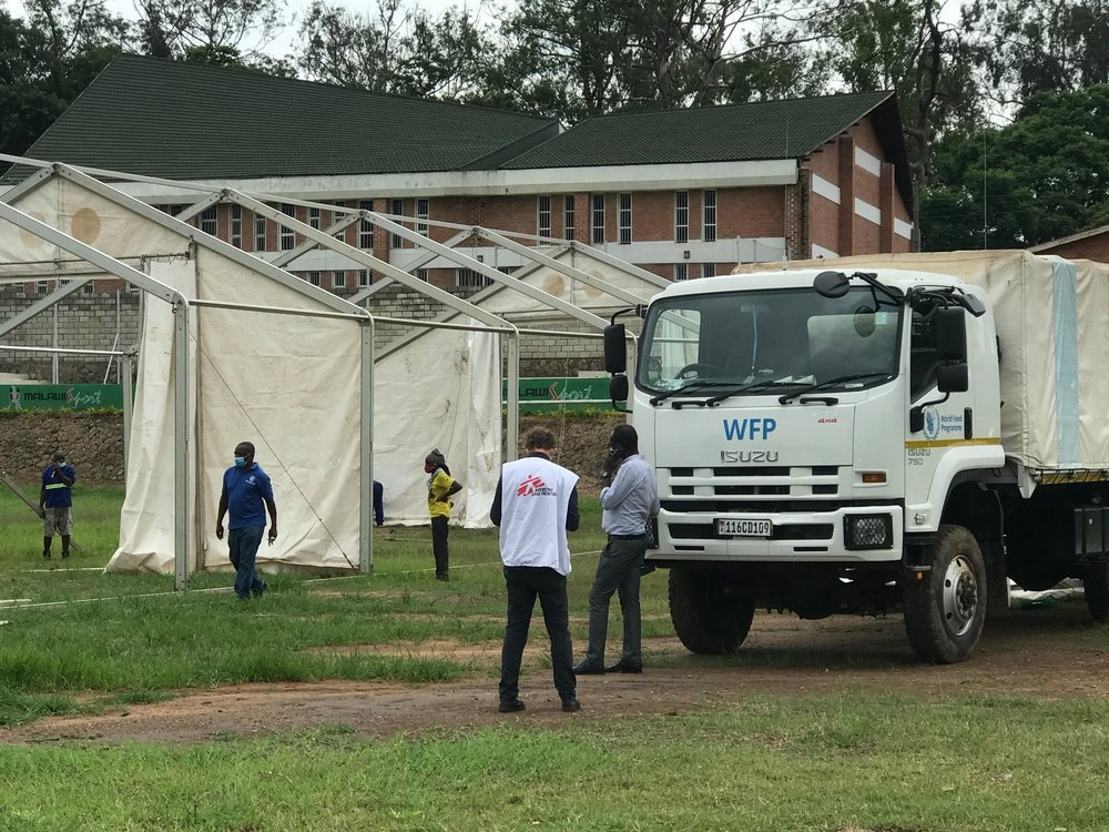 Covid-19 center set up in Blantyre, Malawi.