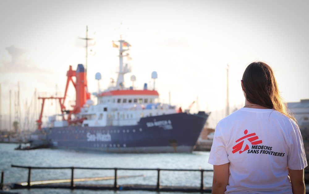 MSF Medical Project Coordinator Barbara Deck, with the Sea-Watch 4, in the port of Burriana. MSF is set to join Sea-Watch on board the Sea-Watch 4, a new ship bound for lifesaving operations in the Central Mediterranean Sea.