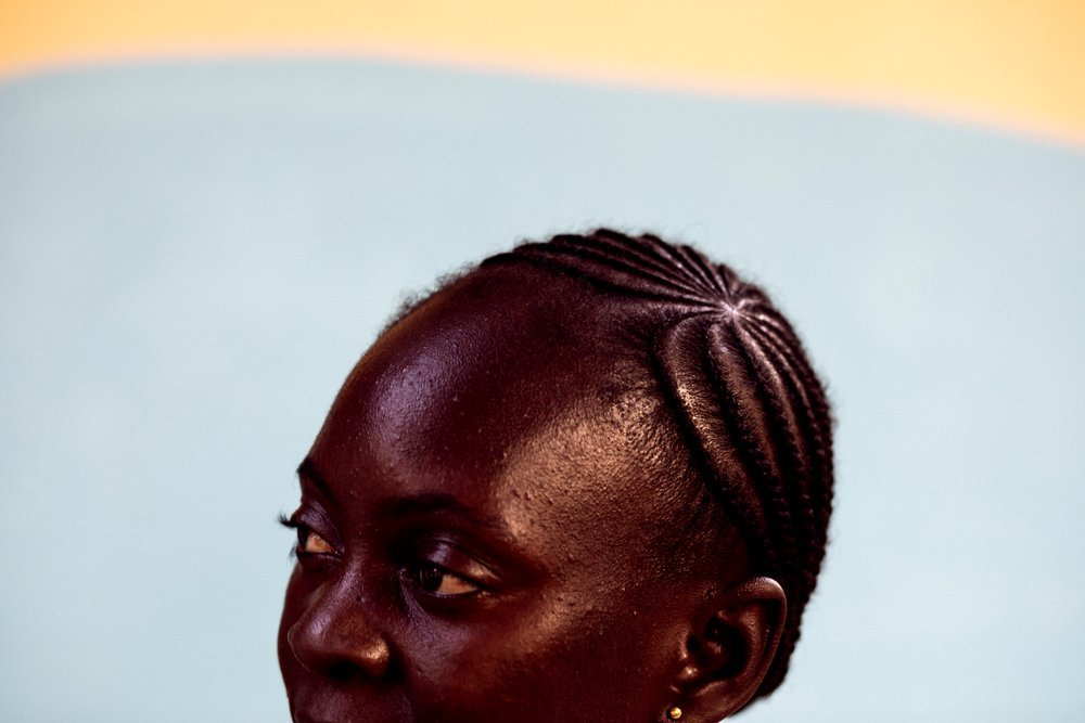 Nadia Bindomi, an MSF community agent with the Tongolo project in Bangui, poses for a portrait on 27th November 2020.