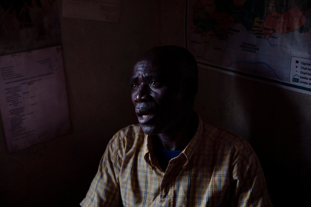 Neighbourhood chief Étienne Oumba is founder and president of the Association of United Victims of the Central African Republic (AVUC).