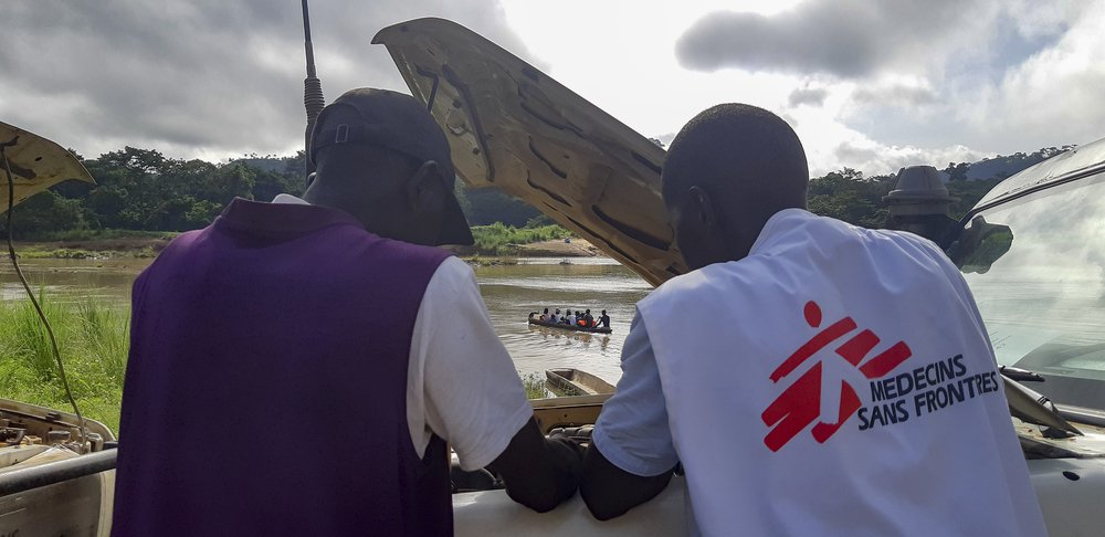 MSF is supporting the Ministry of Health and Sanitation's malaria bed net distribution campaign in the chiefdom of Wandor, Kenema District