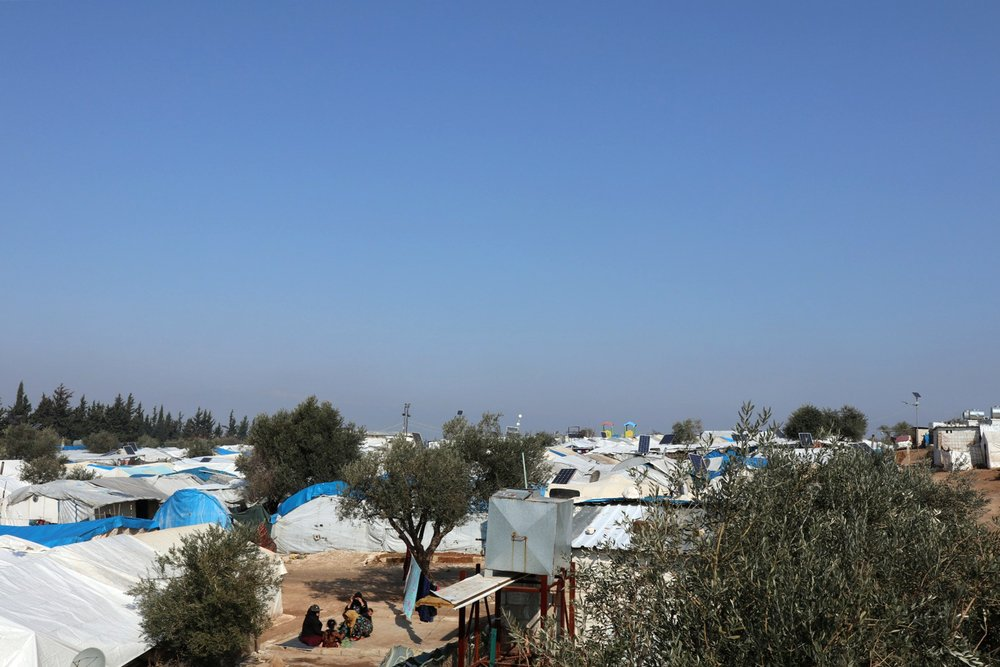 Qadimoon camp (Northwest Syria) on February 17, 2020.
