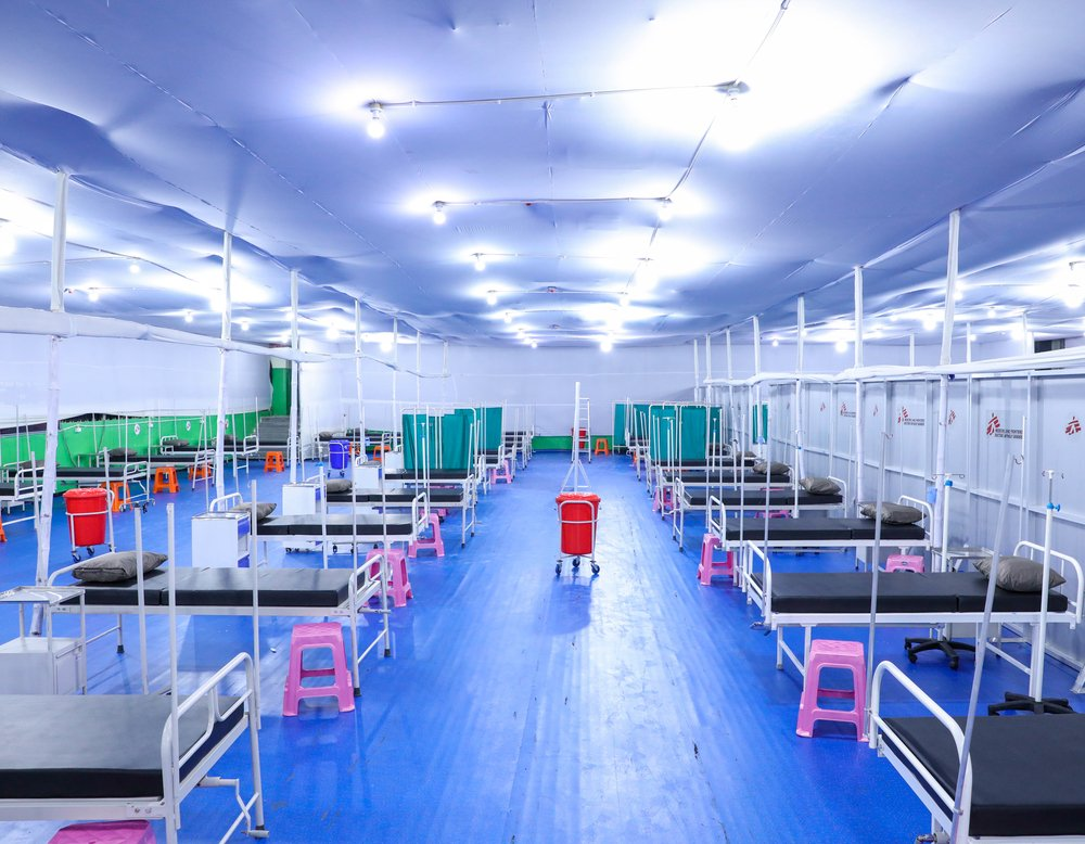 Responding to the COVID-19 pandemic in India, MSF in collaboration with the Bihar government, has set up a 100-bed temporary hospital for COVID-19 patients at the Patliputra Sports complex in Patna