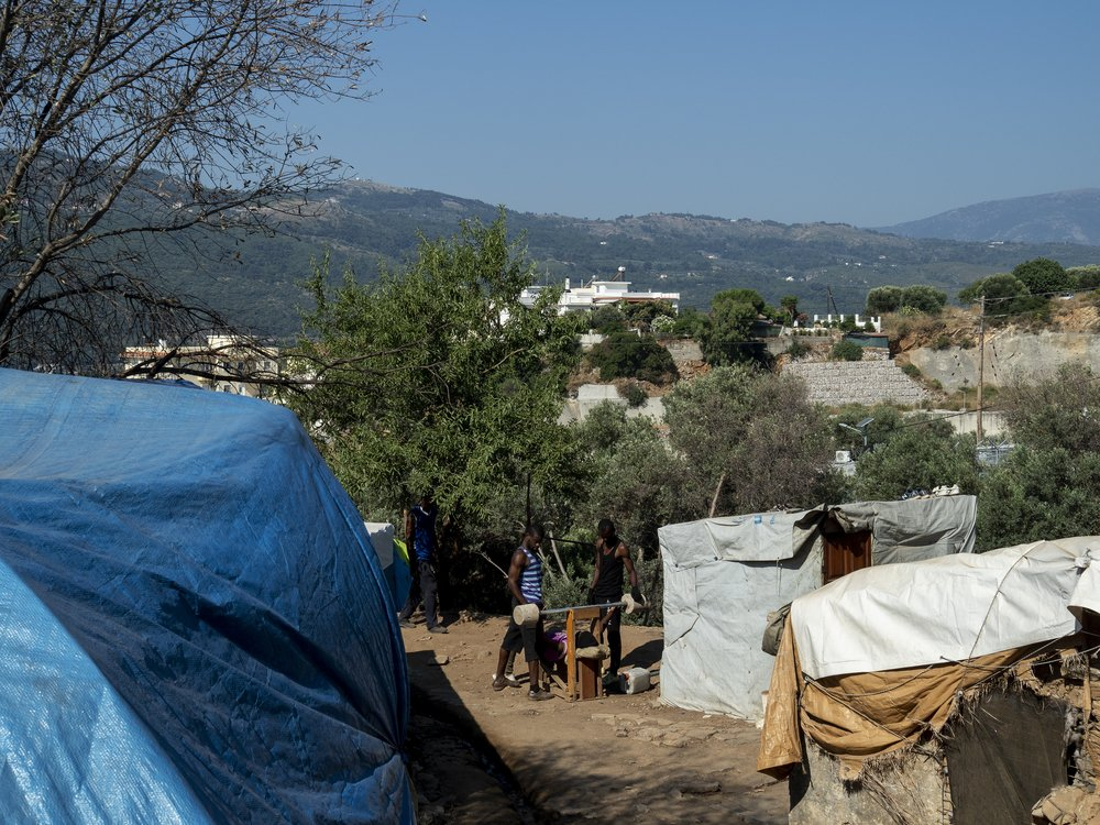 Vathy camp, built for 650 people, hosts more than 7,300, including over 2,500 children. Samos, Greece, November 2019.