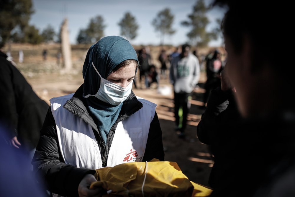 MSF teams providing medical care and humanitarian assistance at a detention centre.