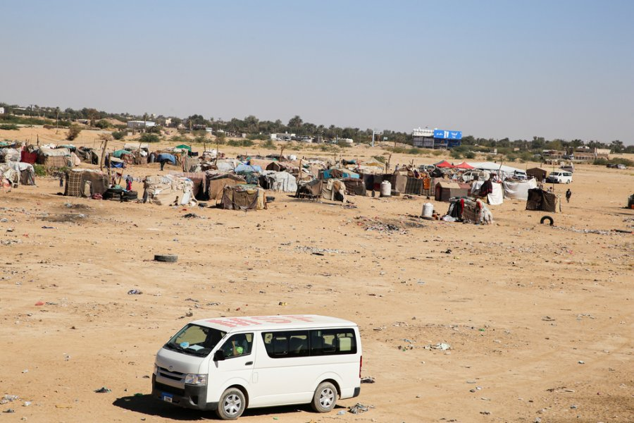 Hareeb Junction camp for the marginalised, to which MSF provides primary health care through its mobile clinics.