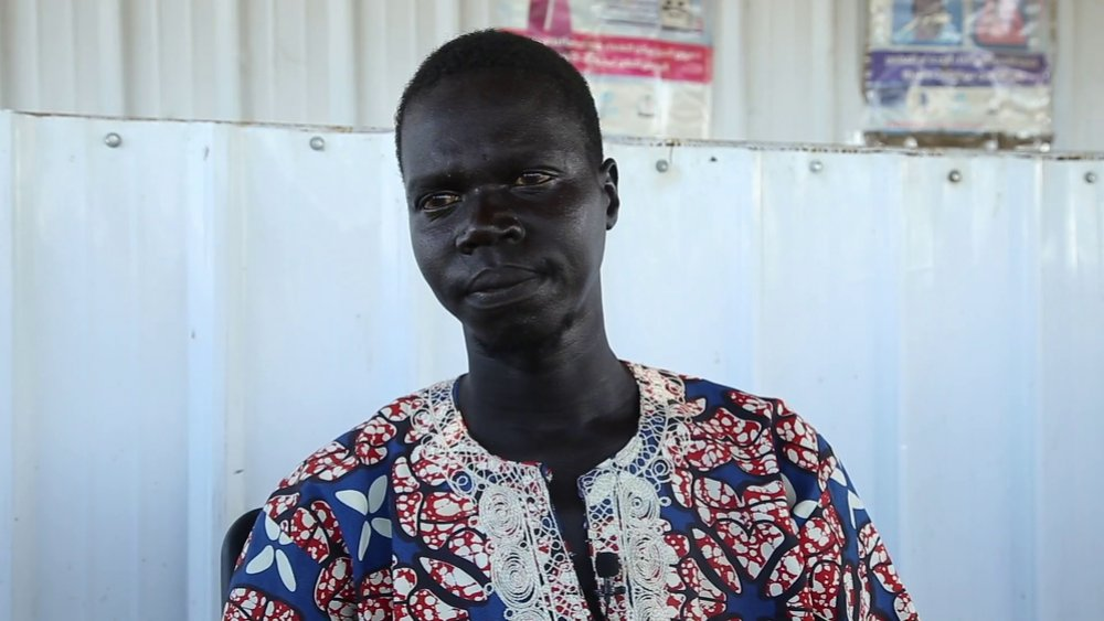 John Jimis, from South Sudan. He was coughing all the time and wasn't sleeping well. He kept going to the health centre in Jorey refugee camp. John's relatives took him to MSF's hospital in Al Kashafa. He has TB and is now recovering.