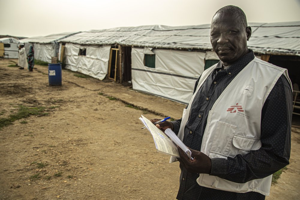 Yumo Arop is HIV and tuberculosis (TB) supervisor in MSF's hospital in Al Kashafa refugee camp, in Sudan's White Nile state.