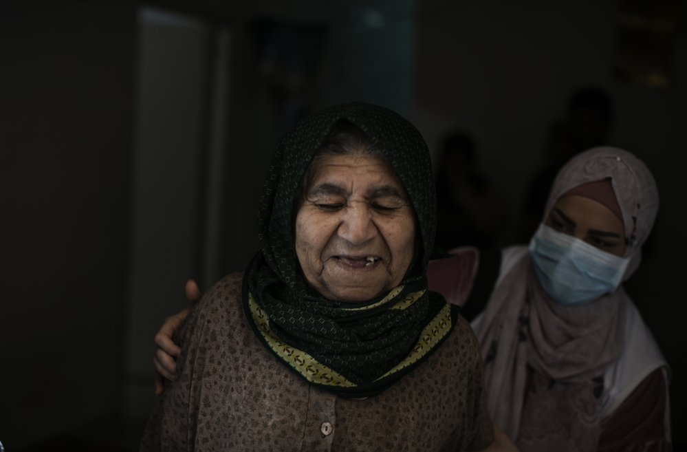 Maryam, a 90-year-old Syrian woman
