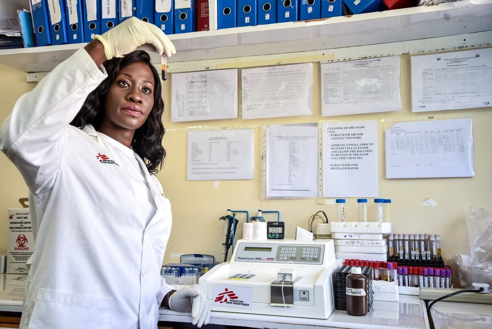 May Atieno is the Lab Manager for MSF's programs in Homa Bay and Ndhiwa. She helped design several systems to ensure efficiency of the lab systems to improve over quality of care.
