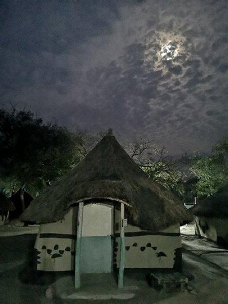 The night sky above the tukul huts where the team sleep