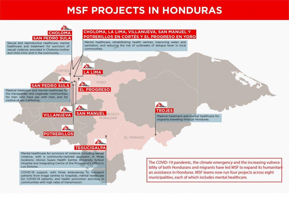 MSF projects in Honduras