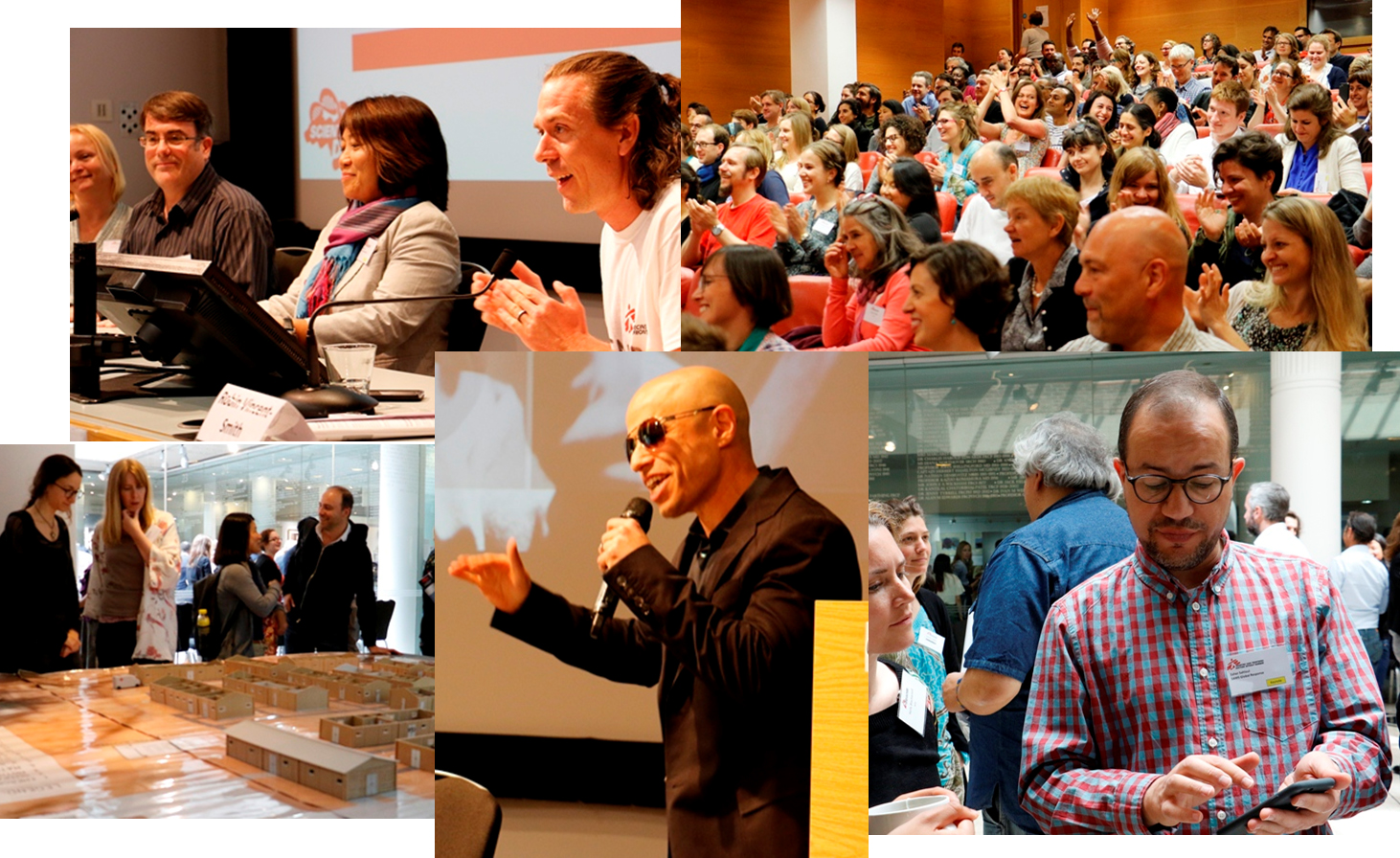 Photo collage of MSF Scientific Days 2016
