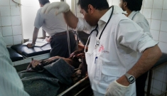 MSF supports the hospital in the town of Haradh