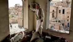 Bomb damage in Sana'a